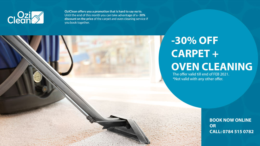 Carpet + Oven Cleaning -30% OFF